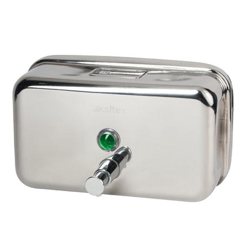 Диспенсер для жидкого мыла KSITEX, наливной, нержавеющая сталь, зеркальный, 1,2 л, SD-1200