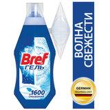 """Блок туалетный подвесной жидкий 360 мл BREF (Бреф) """"Волна свежести"""", наливной диспенсер, 2426035"""