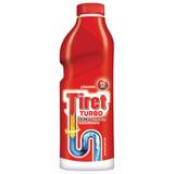 """Средство для прочистки канализационных труб 1 л, TIRET (Тирет) """"Turbo"""", гель, 8147377"""