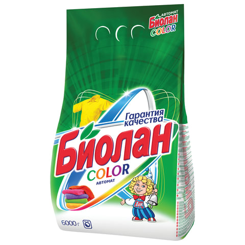 Стиральный порошок-автомат 6 кг, БИОЛАН Color (Нэфис Косметикс), 714-4, 108-4