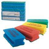"""Губки VILEDA """"ПрофиПурАктив"""", комплект 10 шт., для твердых поверхностей, голубые, 6х14 см, 123118"""