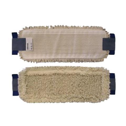Насадка МОП плоская для швабры/держателя 40 см, уши (ТИП УВ), хлопок/полиэстер, VILEDA