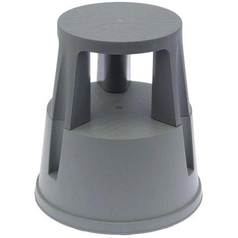 Лестница-тумба 43 см, 2 ступени, передвижная, пластиковая, нагрузка 150 кг, вес 1,5 кг, серая, Россия, 640104