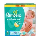 "Подгузники 132 шт., PAMPERS (Памперс) ""Active Baby"", размер 4 (7-14 кг)"