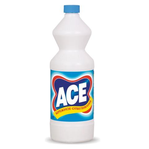 Средство для отбеливания и чистки тканей 1 л, ACE (Ас), для белой ткани