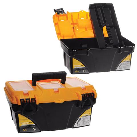 """Ящик для инструментов """"Титан"""", 16"""", 22х41х20 см, 3 бокса для мелочей, IDEA, М 2935"""