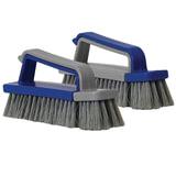 Щетка для обуви, комплект из 2-х щеток (большая и малая), 7х4х17 см, серо-синяя, IDEA, М 5228