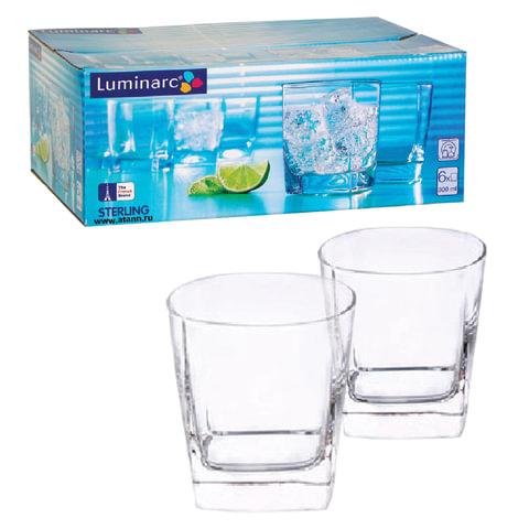 Набор стаканов для сока и виски, 6 шт., 300 мл, низкие, стекло, Sterling, LUMINARC, H7669