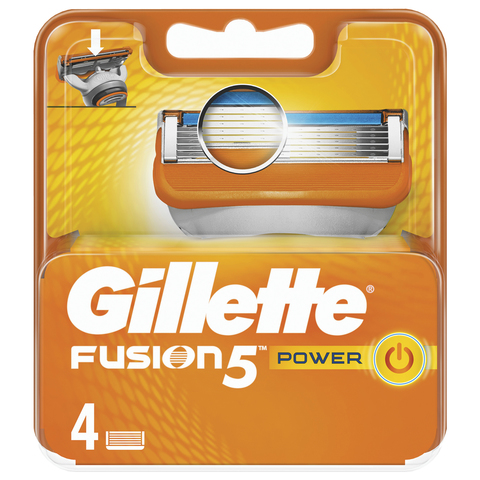 """Сменные кассеты для бритья 4 шт., GILLETTE (Жиллет) """"Fusion"""", для мужчин"""