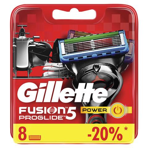 """Сменные кассеты для бритья 8 шт., GILLETTE (Жиллет) """"Fusion ProGlide Power"""", для мужчин"""