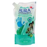 """Мыло-крем жидкое 500 мл, AURA BIO, антибактериальное, """"Сок алое"""", упаковка дой-пак, для дозаторов, 6537"""