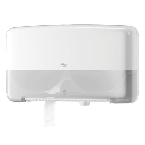 Диспенсер для туалетной бумаги TORK (Система T2) Elevation, mini, двойной, белый, 555500