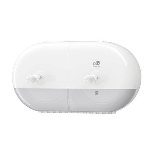 Диспенсер для туалетной бумаги TORK (Система T9) SmartOne, двойной, mini, белый, 682000