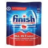 """Средство для мытья посуды в посудомоечных машинах 13 шт., FINISH (Финиш) """"All in 1"""", таблетки, 3018745"""