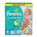 Подгузники 147 шт., PAMPERS (Памперс) Active Baby, размер 4 (7-14 кг), PA-81630306