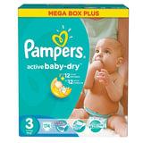 Подгузники 174 шт., PAMPERS (Памперс) Active Baby, размер 3 (5-9 кг), PA-81530093