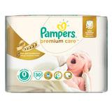 Подгузники 30 шт., PAMPERS (Памперс) Premium Care Newborn, размер 0 (до 2,5 кг), PA-81532682