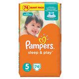 Подгузники 74 шт., PAMPERS (Памперс) Sleep&Play, размер 5 (11-18 кг), PA-81566842