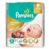 Подгузники 80 шт., PAMPERS (Памперс) Premium Care Mini, размер 2 (3-6 кг), PA-81578283