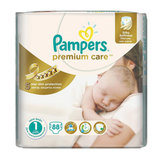 Подгузники 88 шт., PAMPERS (Памперс) Premium Care Newborn, размер 1 (2-5 кг), PA-81610040