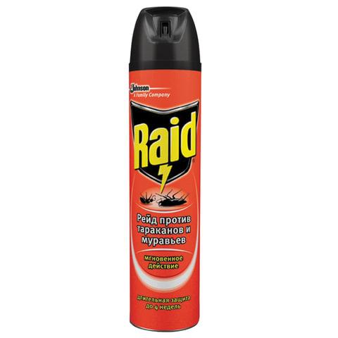 Средство от насекомых 300 мл, RAID (Рейд), аэрозоль, от муравьев и тараканов, 606865