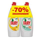 """Промонабор: средство для мытья посуды FAIRY """"Сочный Лимон"""" 0,65 л + FAIRY """"Нежные руки, чайное дерево и мята"""" 0,65 л, FR-81632691"""