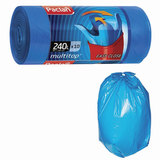 "Мешки для мусора 240 л, с ушками, синие, рулон 10 шт., ПВД, 40 мкм, 90х145 см, PACLAN ""Multitop"", 134451"