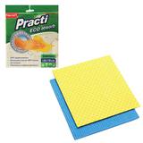 """Салфетки губчатые, комплект 2 шт., 18х18 см, PACLAN """"Practi"""", для влажной уборки, 410164"""