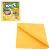 """Тряпка для мытья пола, 50х60 см, 200 г/м<sup>2</sup>, вискоза (ИПП), оранжевые, PACLAN """"Practi Floor cloth"""", 163427"""