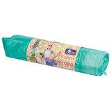 Мешки для мусора 120 л, завязки, зеленые, в рулоне 15 шт., ПНД, 15 мкм, 73х90 см, YORK AZUR, 902040