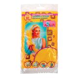 Перчатки хозяйственные резиновые YORK AZUR, с х/б напылением, рифленая ладонь, размер XL (очень большой), 911700