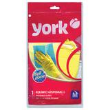 Перчатки хозяйственные резиновые YORK, суперплотные, с х/б напылением, рифленая ладонь, размер M (средний), 92020