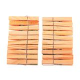 """Прищепки бельевые деревянные, комплект 20 шт., универсальные, YORK AZUR """"Эко"""", 915290"""