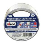Клейкая лента алюминиевая 50 мм х 10 м, UNIBOB, морозостойкая, европодвес, 66348