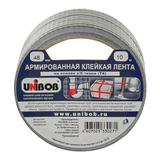 Клейкая лента армированная, 48 мм х 10 м, UNIBOB, основа-х/б ткань, прочная, европодвес, 29835