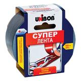 """Клейкая лента армированная, 50 мм х 25 м, UNIBOB """"Супер"""", универсальная, основа-полиэстер, подвес, 44265"""