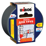 Клейкая лента для труб, 48 мм х 10 м, UNIBOB, основа-ПВХ, европодвес, 46745
