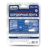 Клейкая лента бордюрная для стыков и углов, 12,8 мм х 3,35 м, UNIBOB, белая, блистер, 46325