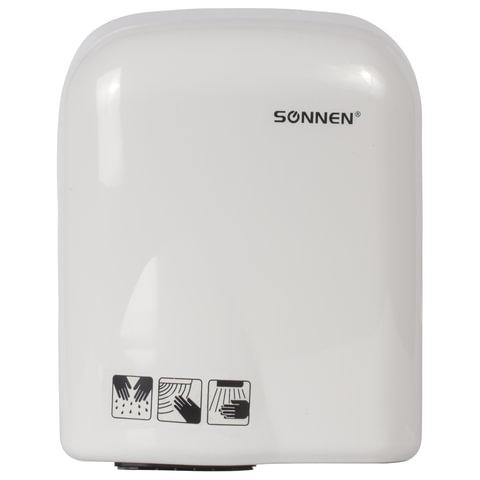Сушилка для рук SONNEN HD-165, 1650 Вт, пластиковый корпус, белая, 604191