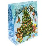 """Пакет подарочный ламинированный, 17,8х22,9х9,8 см, """"Новогодние гуляния"""", 75307"""