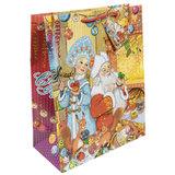 """Пакет подарочный ламинированный, 26х32,4х12,7 см, """"Внучка Деда Мороза"""", 75319"""