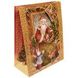 """Пакет подарочный ламинированный, 26х32,4х12,7 см, """"Мешок с подарками"""", 75318"""
