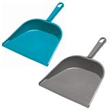 Совок для мусора, низкая ручка, пластиковая кромка, ширина 23 см, пластик, цвет ассорти, YORK, 61010