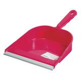 Совок для мусора, низкая ручка, с резиновой кромкой, ширина 23 см, пластик, цвет ассорти, YORK, 61020