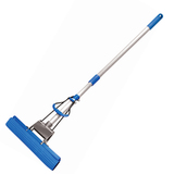 """Швабра для уборки с отжимом, ручка телескопическая 65-120 см, насадка PVA 27см, """"Top"""", YORK, 81120"""