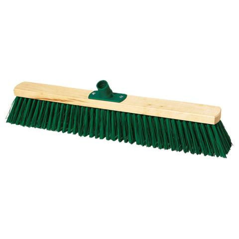Щетка для уборки техническая, ширина 60 см, высота щетины 7,5 см, деревянная, YORK, 130