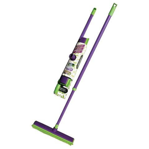 """Щетка для уборки (резиновая щетина+стяжка), ручка телескопическая 80-120 см, YORK """"Prestige"""", 51300"""