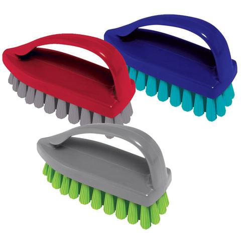 Щетка для одежды/обуви, средняя, 7,5х10,5х4,5 см, пластик, цвет ассорти,