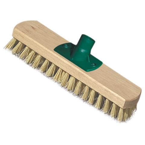 Щетка-скраббер для уборки техническая, ширина 23 см, длина щетины 2,5 см, деревянная, YORK, 300