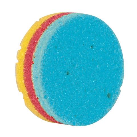 """Мочалка губка, цветной поролон слоями, 11 г (высота 4 х диаметр 11 см), """"Круг Радуга"""", TIAMO """"Original"""", 7730"""